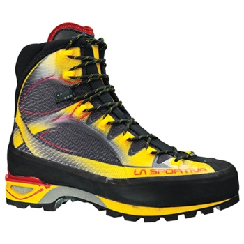 La Sportiva Trango: cult trekking boots with typical brand colors.