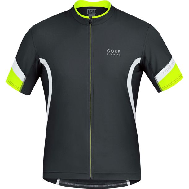 Gore Bike Wear Men's Power 2.0 biking jersey black/white S