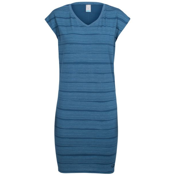 Women's Yanni Tee Combed Lines Dress prussian blue-snow XS