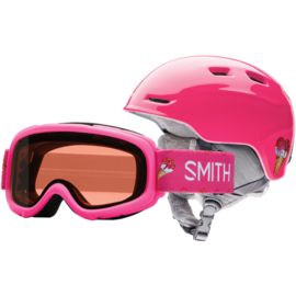 Smith Kids Zoom JR Ski Helmet und Gambler Ski Goggles
