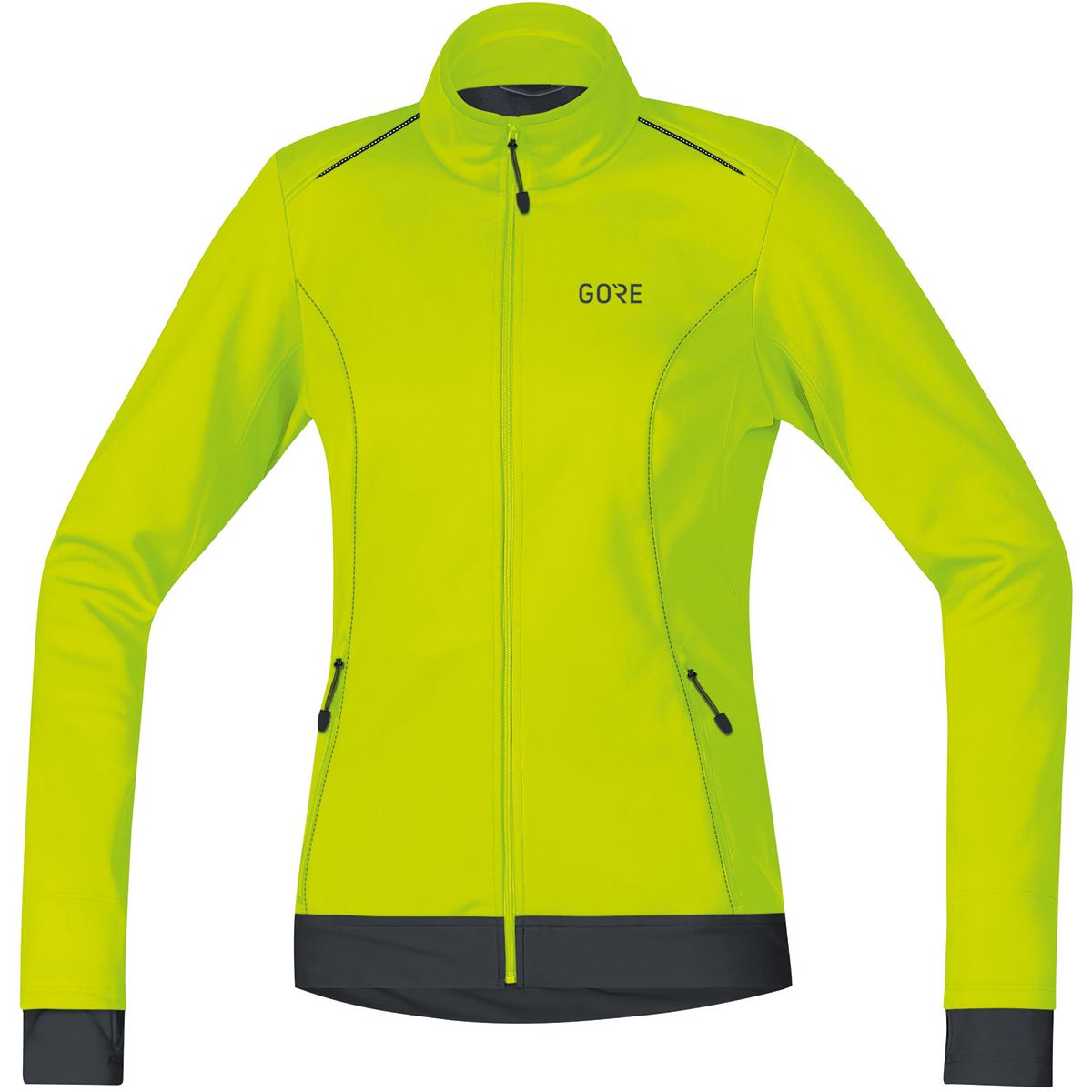 Gore Wear Damen C3 Gore ® WINDSTOPPER® Thermo Jacke (Größe M, Gelb) | Windbreaker > Damen