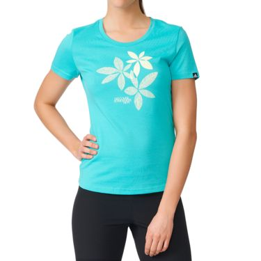 adidas Damen Flower T-Shirt vivid mint XS