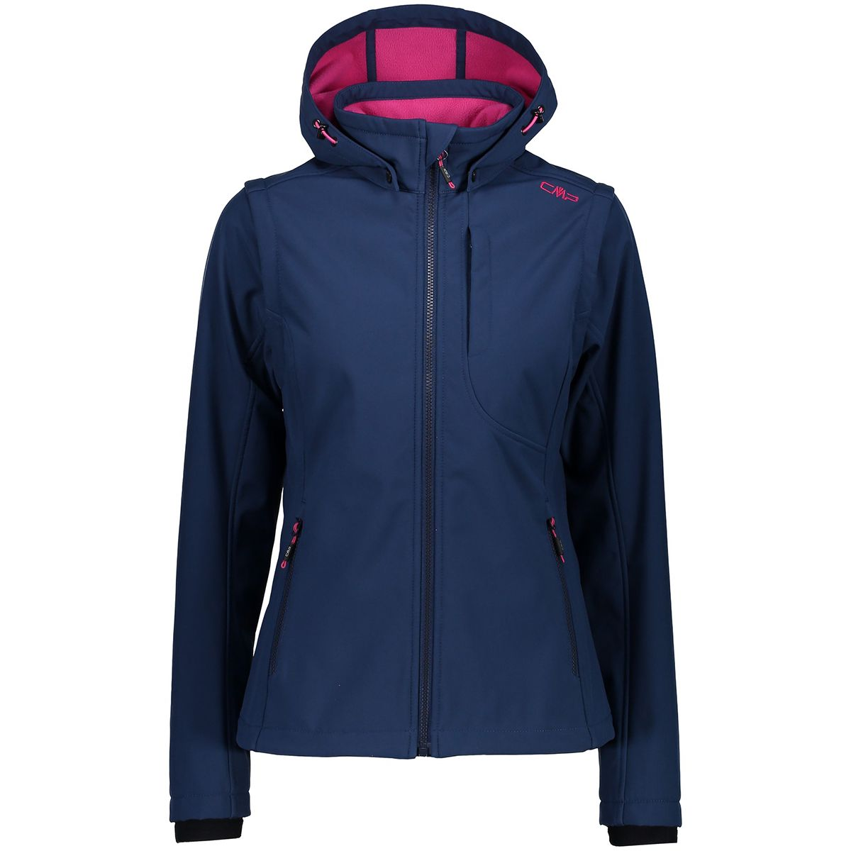 CMP Damen Softshell Zip Off Jacke (Größe M, Blau) | Softshelljacken > Damen