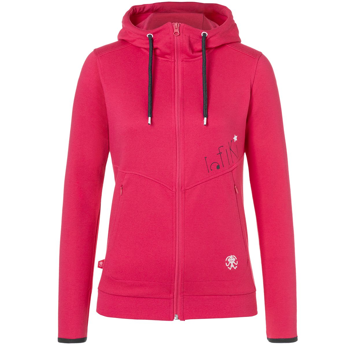 Rafiki Damen Root Hooded Jacke (Größe M, Pink) | Hoodies > Damen