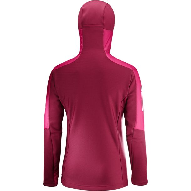 Women's Drifter Air Mid Hoodie Jacket cerise beet red M