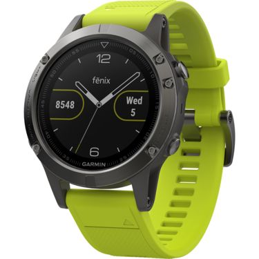 garmin fenix 5 gps uhr gelbes armband kaufen bergzeit. Black Bedroom Furniture Sets. Home Design Ideas