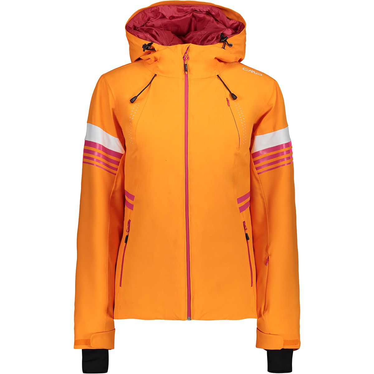 CMP Damen Stretch Hoodie Jacke (Größe L, Orange) | Skijacken > Damen