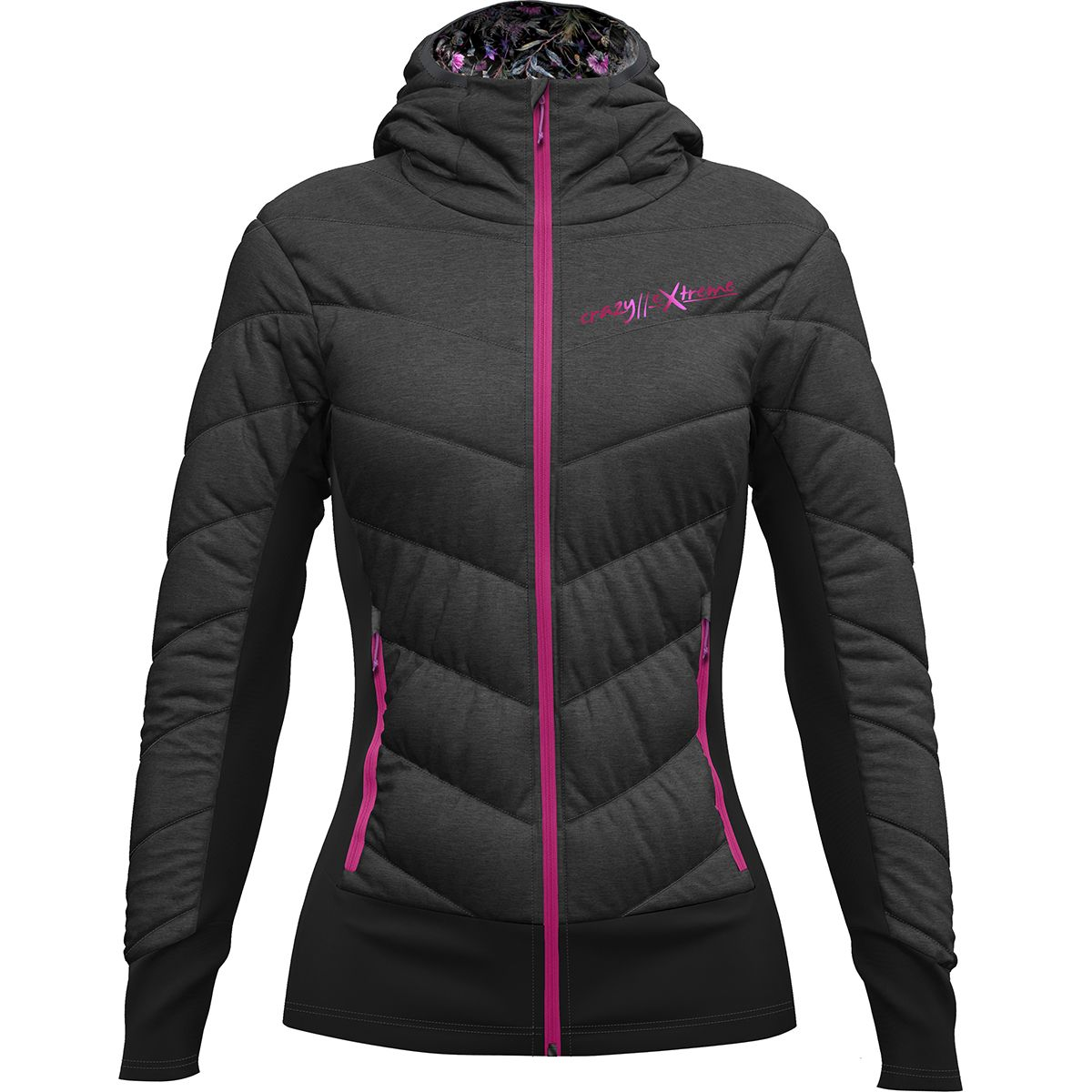 Crazy Idea Damen Feel Jacke (Größe XS, Grau) | Isolationsjacken > Damen