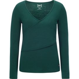 Super.Natural Damen Motion Wrap Over Longsleeve