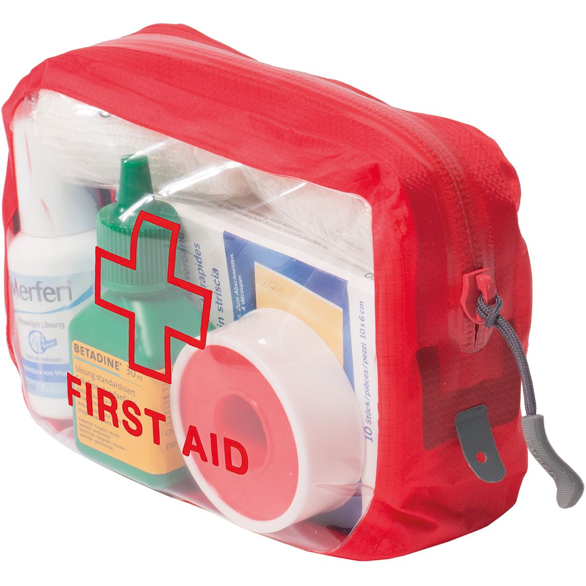 Image of Exped Clear Cube First Aid (Rot)