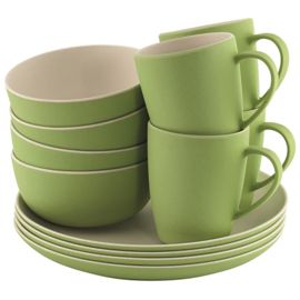 Outwell Bamboo Dinner Set 4 Personen