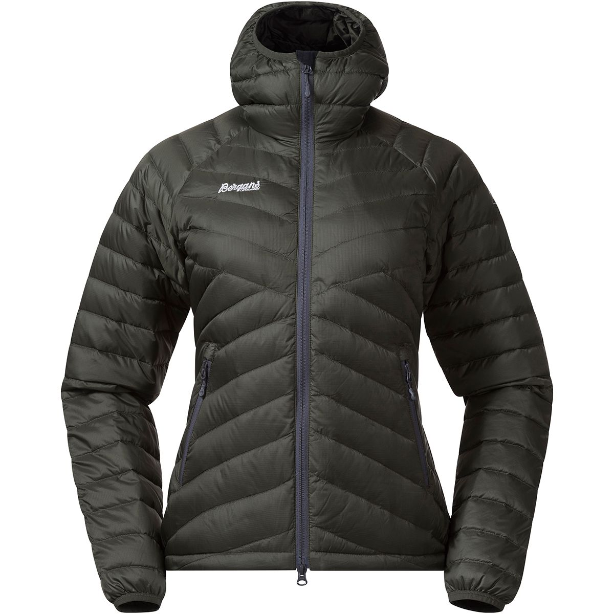 Bergans Damen Pyttegga Down Hooded Jacke (Größe XS, Grau) | Isolationsjacken > Damen