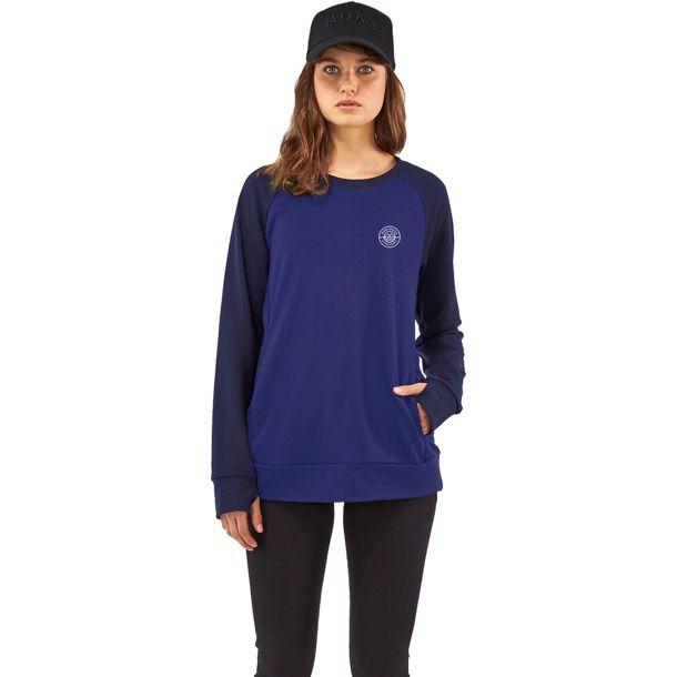 Mons Royale Damen Covert Mid-Hit Pullover navy-electric blue M