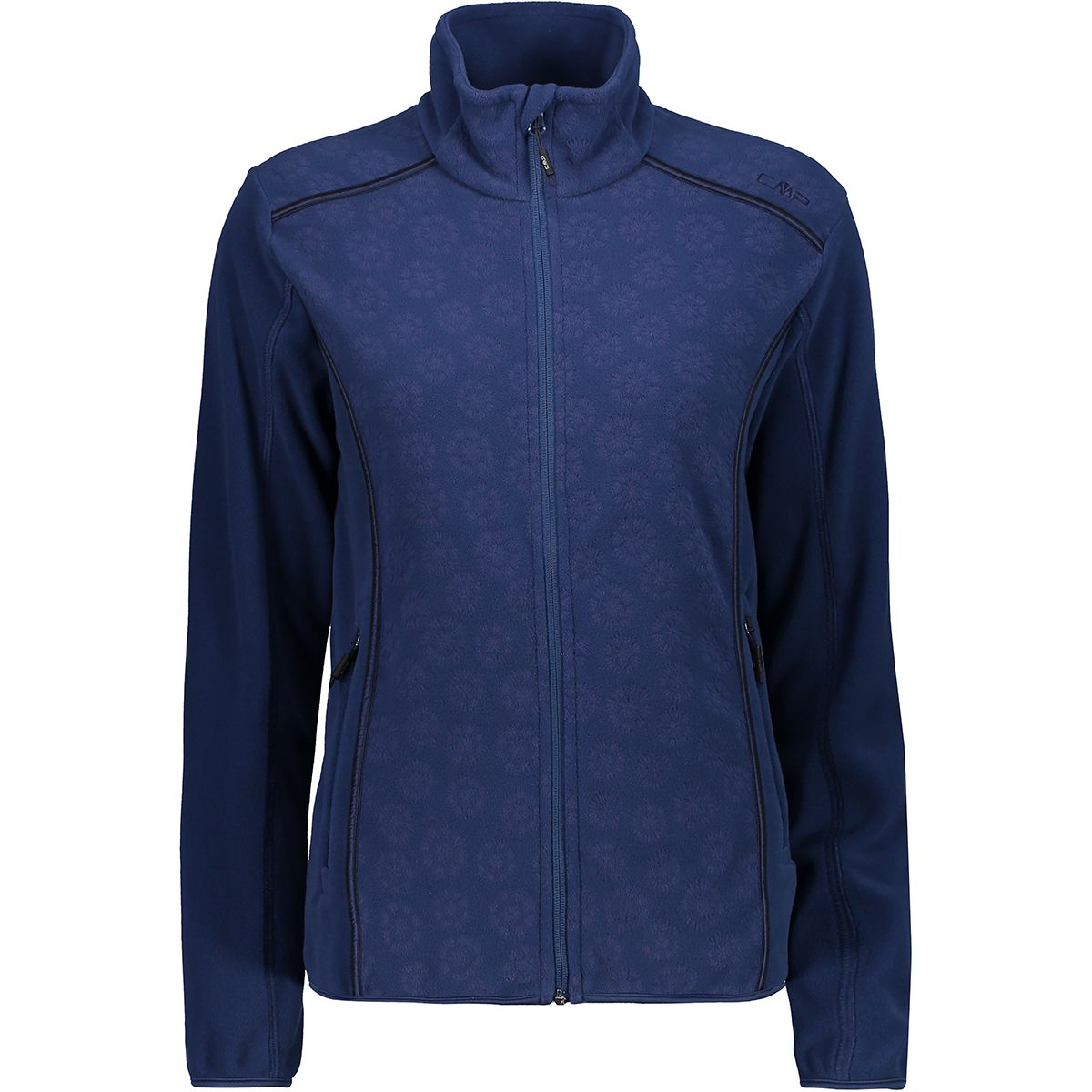 CMP Damen Printed Fleece Jacke (Größe XL, Blau) | Fleecejacken > Damen