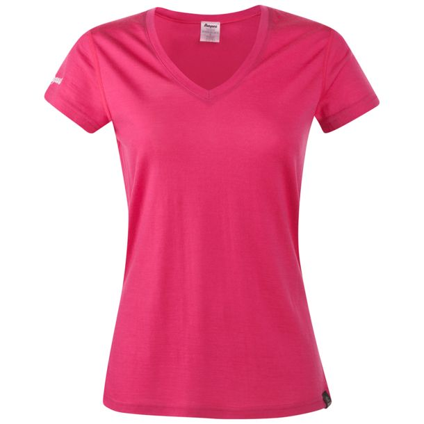 Bergans Damen Bloom Merino T-Shirt hot pink XS