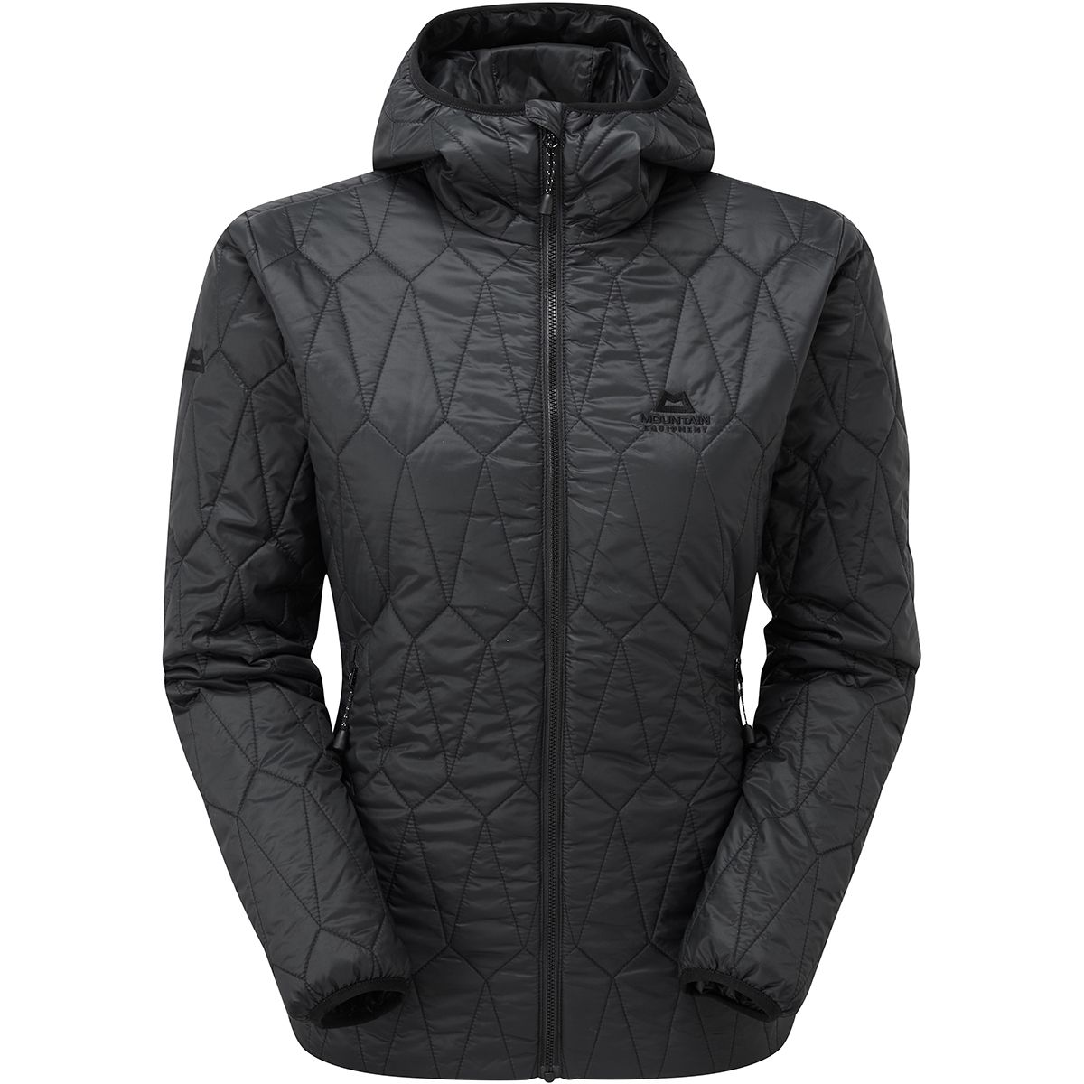 Mountain Equipment Damen Rampart Hooded Jacke (Größe S, Schwarz) | Isolationsjacken > Damen