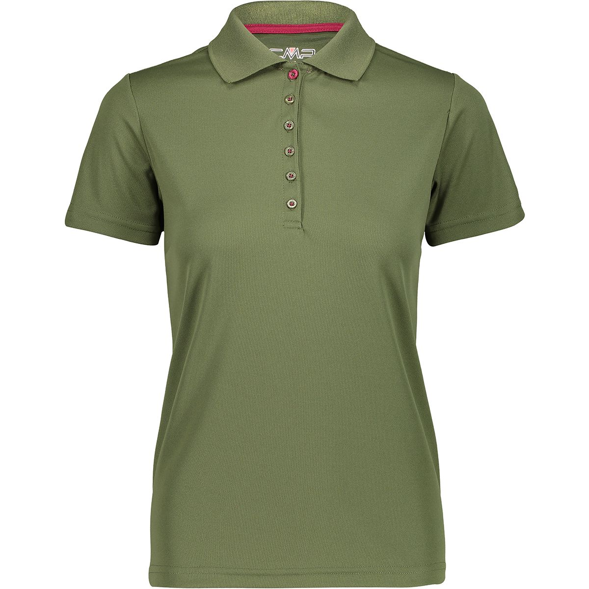 CMP Damen Polo T-Shirt (Größe L, Oliv) | T-Shirts Funktion > Damen