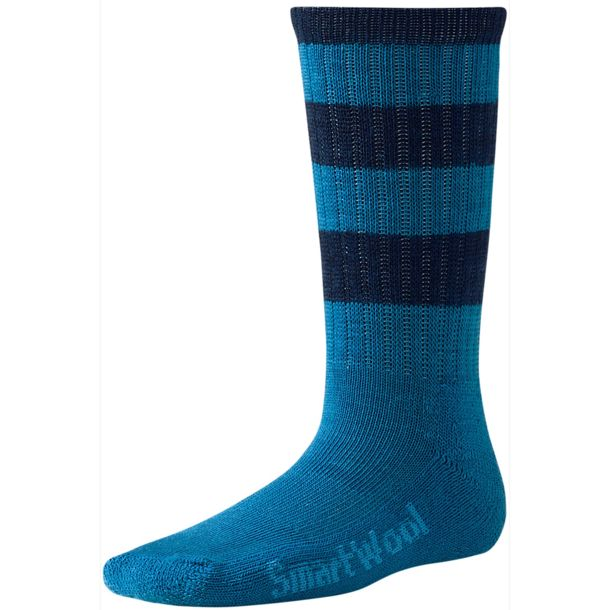 Smartwool Kids Striped Hike Light Kids Crew blue blue