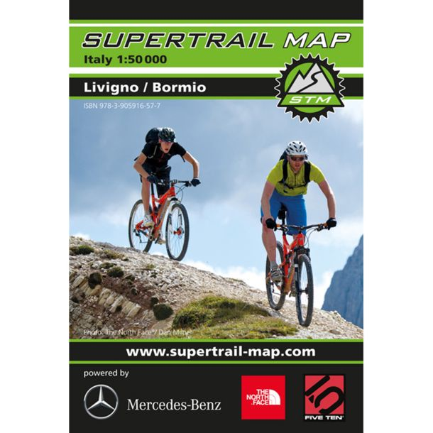 Supertrail Map Livigno Bormio MTB buy online in the Bergzeit Shop