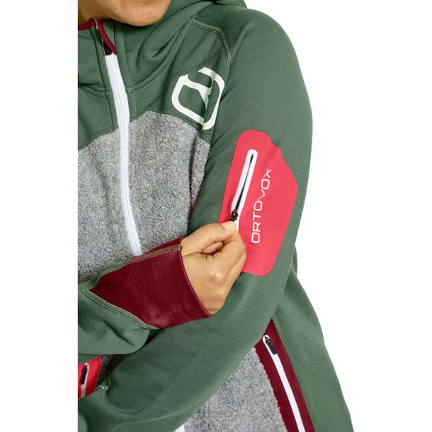 ortovox plus fleece jacke damen