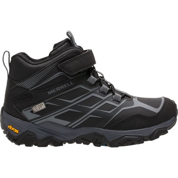 so cheap big discount of 2019 search for latest Kids Moab FST Mid A/C Arctic Grip Waterproof Shoe black 29