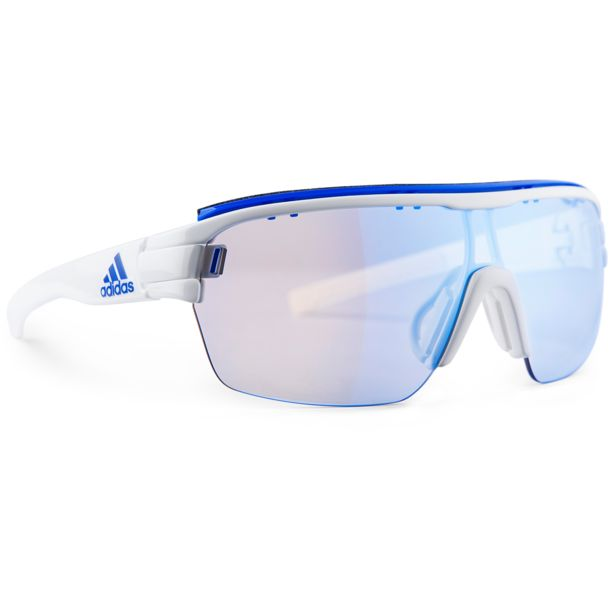 5923569e9357 adidas Eyewear Men s Zonyk Aero Pro Vario Cycling Eyewear white shiny vario  blue mirror ...