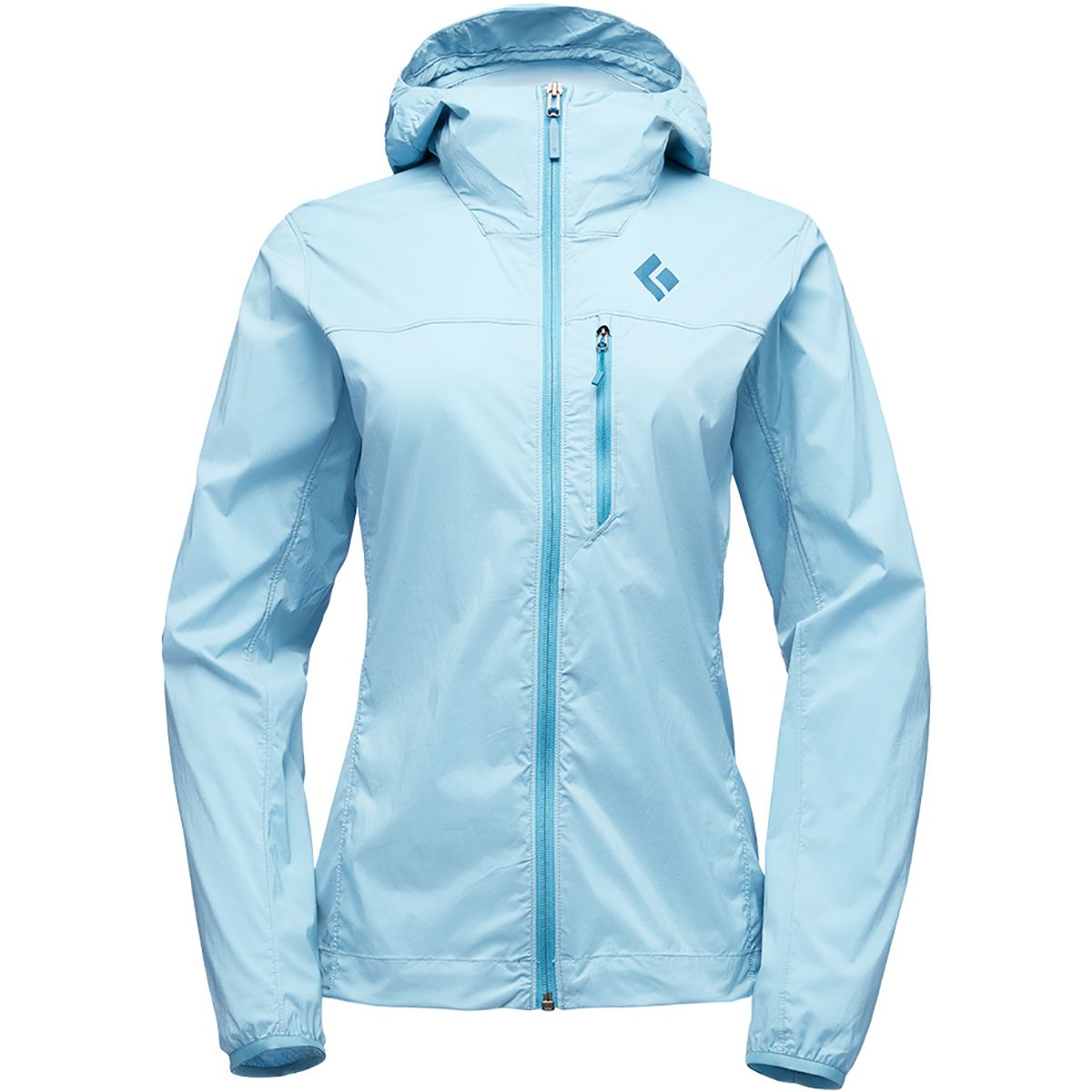 Black Diamond Damen Alpine Start Hooded Jacke (Größe M, Blau)
