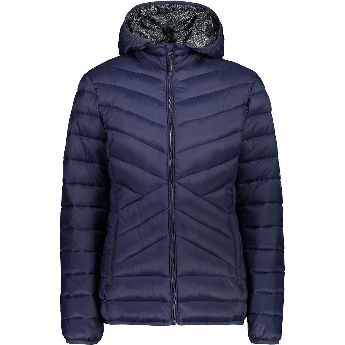 CMP Damen Padding Zip Hood Jacke (Größe XS, Blau) | Isolationsjacken > Damen
