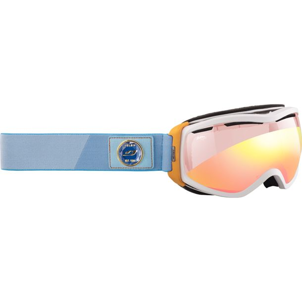 Julbo Damen Elara Zebra Light Rot Skibrille weiß-orange-türkis/rot flash