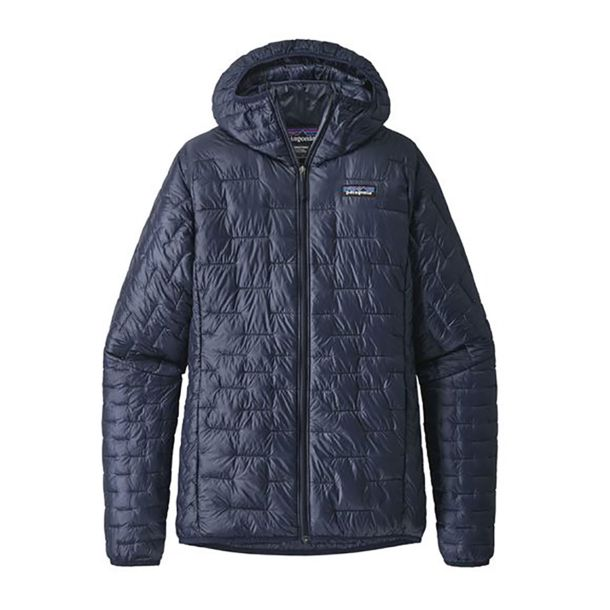 Damen Micro Puff Hooded Jacke classic navy XS