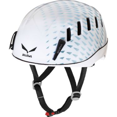 Salewa Helium Evo Edition Helm white pattern