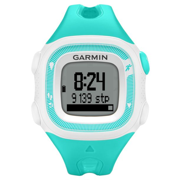 garmin forerunner 15 hr gps uhr t rkis weiss kaufen im. Black Bedroom Furniture Sets. Home Design Ideas