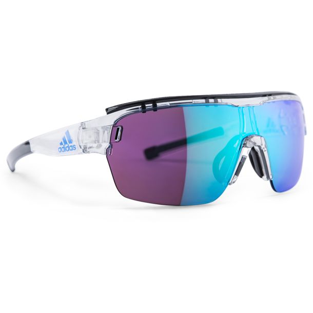 f1550ec18174 adidas Eyewear Men s Zonyk Aero Pro Colour Mirror Cycling Eyewear crystal  shiny blue mirror S ...