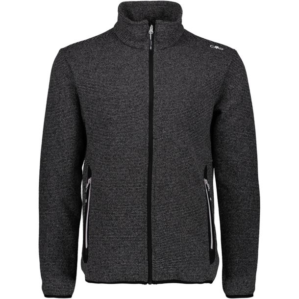 Men's Knit Fleece Jacket grey antracite nero 46