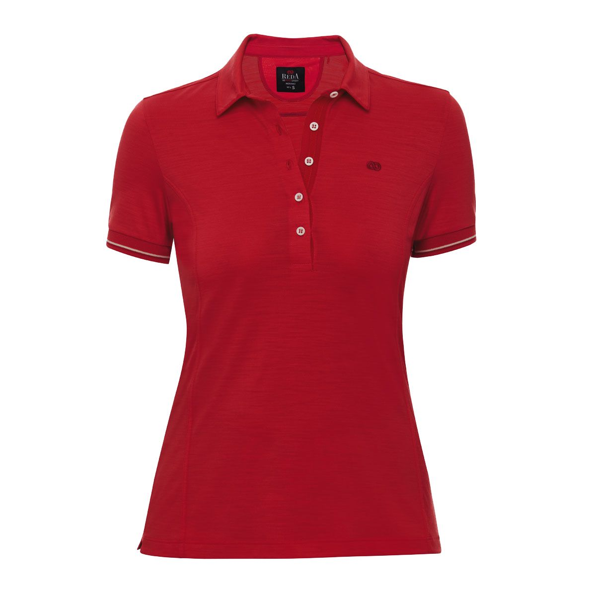 Rewoolution Damen Evert Polo Shirt (Größe M, Rot) | T-Shirts Merino > Damen