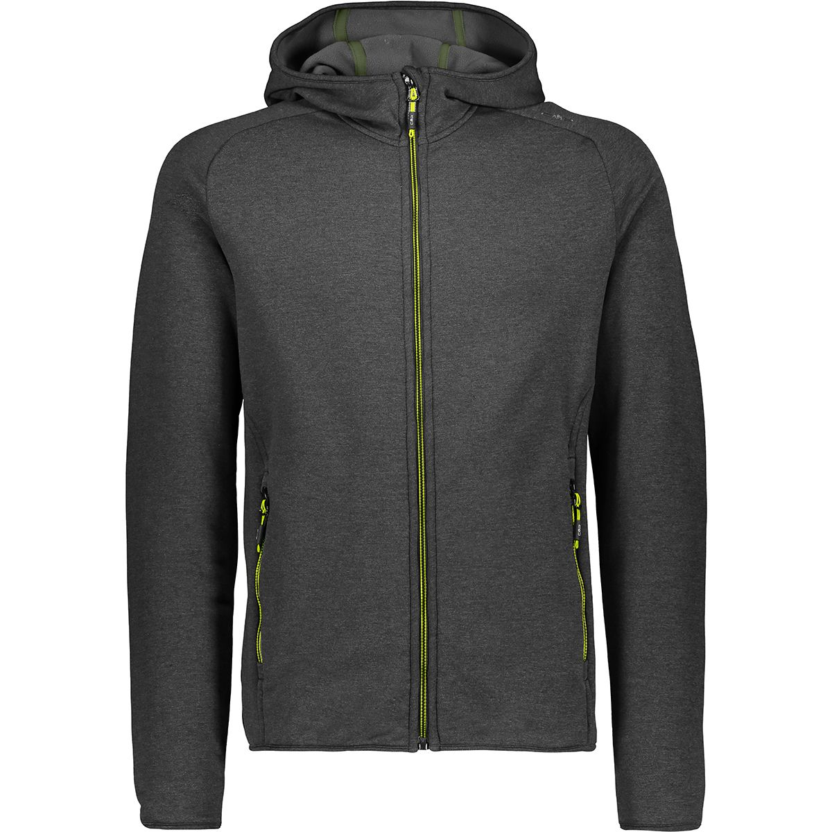 Herren Stretch Fleece Jacke Grün L