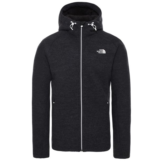 Herren Zermatt Fz Hooded Jacke tnf black heather M
