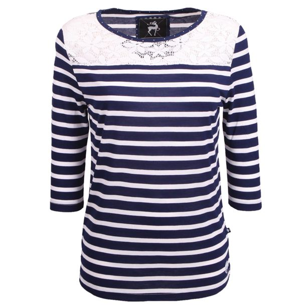 Alprausch Women's Spitzelmine W's Long Sleeve navy striped XS