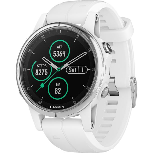 garmin fenix 5s plus saphire gps uhr weiss silber kaufen. Black Bedroom Furniture Sets. Home Design Ideas