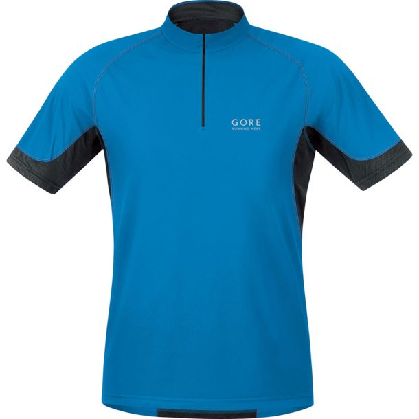 Gore Running Wear Men's X-RUNNING 2.0 Zip Shirt splash blue-black M