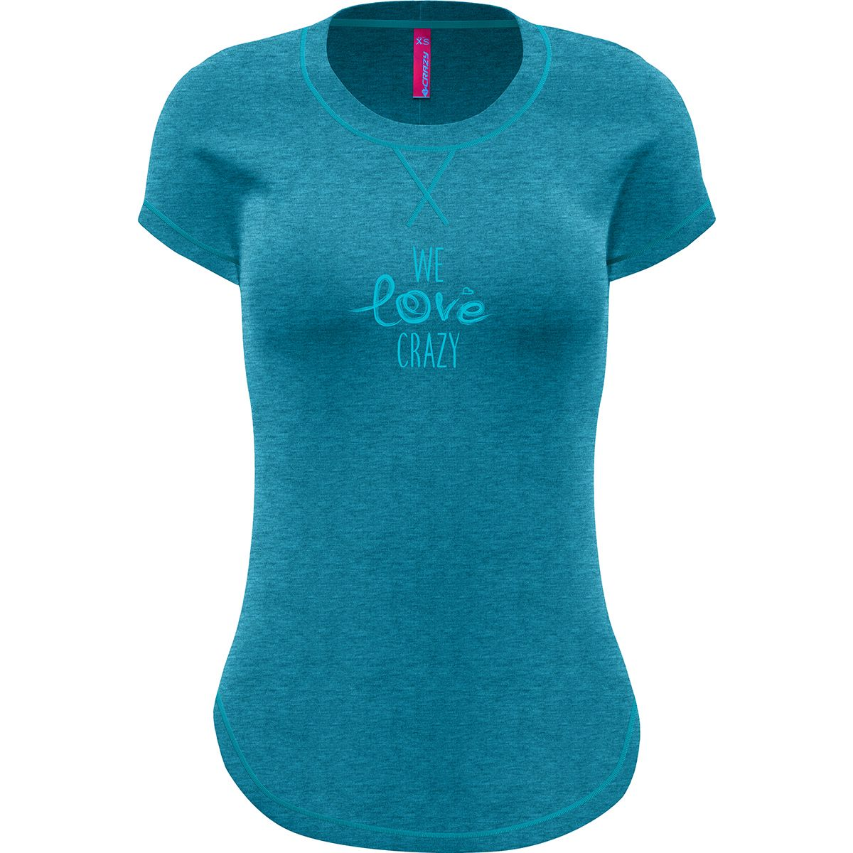 Crazy Idea Damen Instinct T-Shirt (Größe XS, Blau) | T-Shirts Funktion > Damen