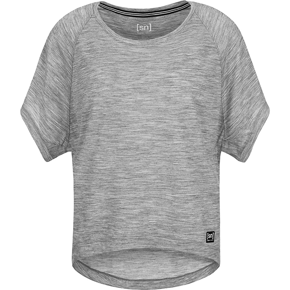 Super.Natural Damen Peyto T-Shirt (Größe XS, Grau) | T-Shirts Merino > Damen