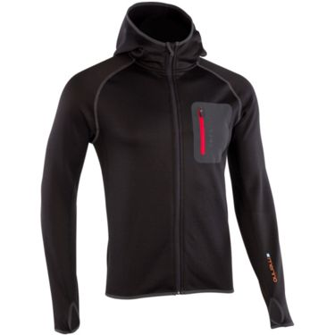Ortovox Herren Fleece Hoody black r/red