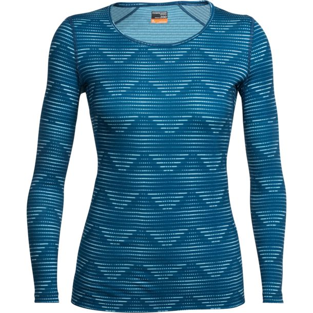 Icebreaker Women's Oasis Diamond Scoop Long Sleeve
