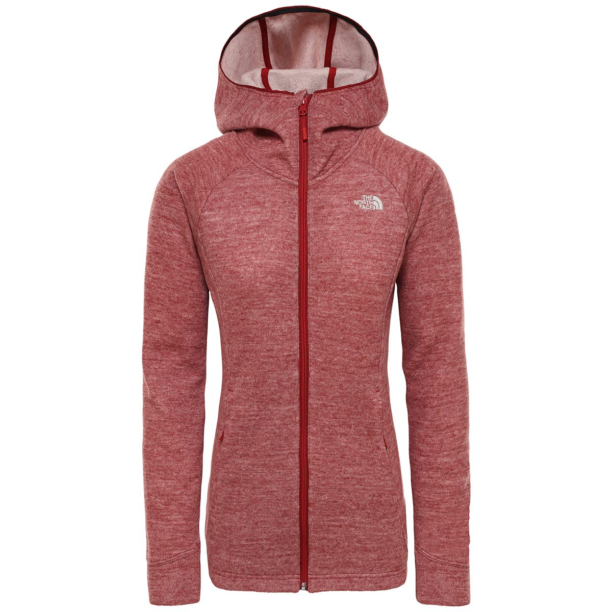 The North Face Damen Inlux Wool Pro Hoodie Jacke (Größe XS, Rot) | Freizeitjacken & Parkas > Damen