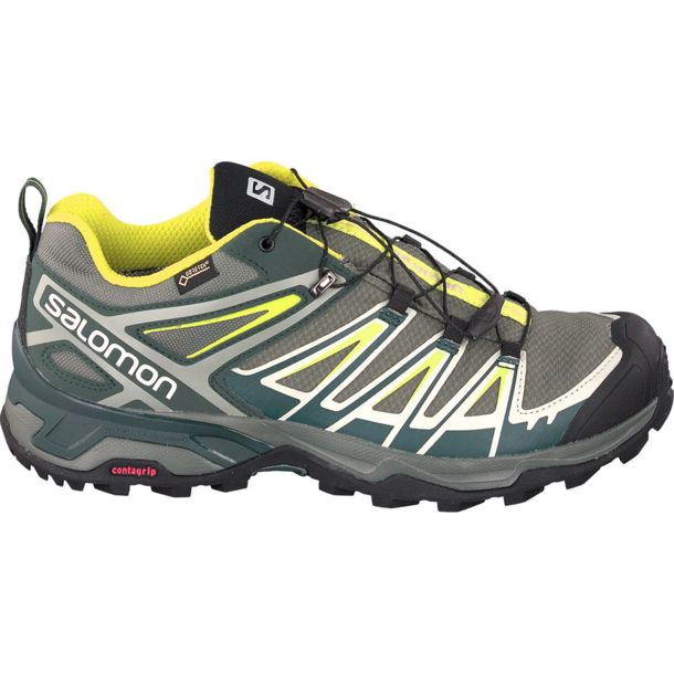 release date fd34a 629dc Men's X Ultra 3 GTX Shoes gray-spruce-lime UK 11.5