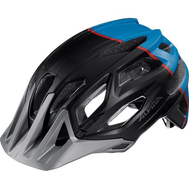 Alpina Garbanzo Fahrradhelm darksilver-blue red 57-62