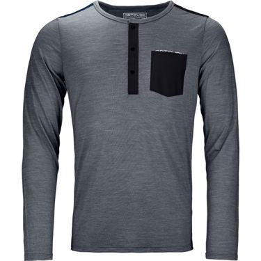 Ortovox Men's 120 Cool Tec Long Sleeve black steel blend S