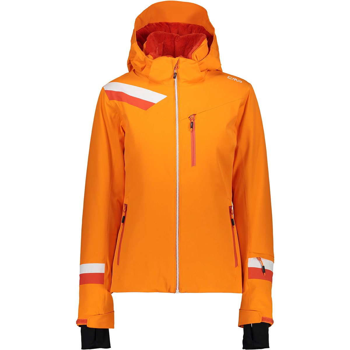 CMP Damen Stretch Zip Jacke (Größe XS, Orange) | Skijacken > Damen