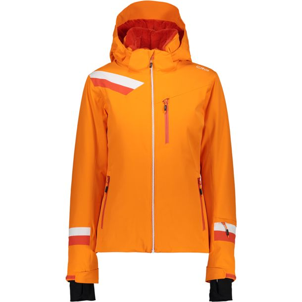 Damen Stretch Zip Jacke orange 40